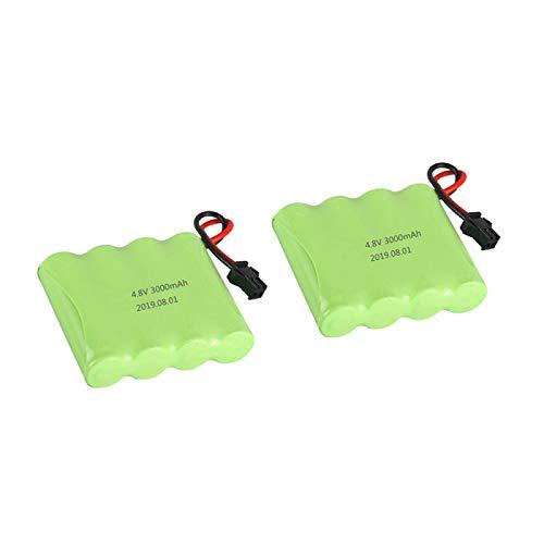 Grehod Wiederaufladbare 4,8-V-3000-mAh-Batterie für ferngesteuerte Spielzeugroboter, Autos, Züge, Roboter, Modellzubehör und AA-Batteriepacks b