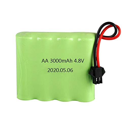 Grehod 4,8 V 3000 mAh wiederaufladbare Batterie, verwendet für ferngesteuerte Spielzeugroboter Auto Zug Roboter Modellzubehör AA Batteriepack SM