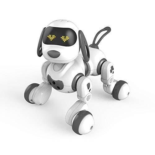 Lihgfw Intelligente Fernbedienung Hund zu Fuß elektrische Welpen Spielzeugroboter for Kinder über 3 Jahre alt schwarz 21.5 * 23cm (Color : Schwarz)