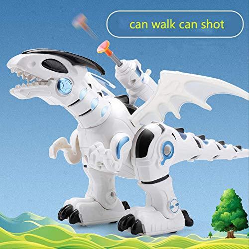 Zpong Elektronisches Gehen Und Schießen Dinosaurier Roboter Spielzeug Mechanische Dinosaurier Simulationsmodell Für Kinder Babys Geschenke 33X21X18.5Cm