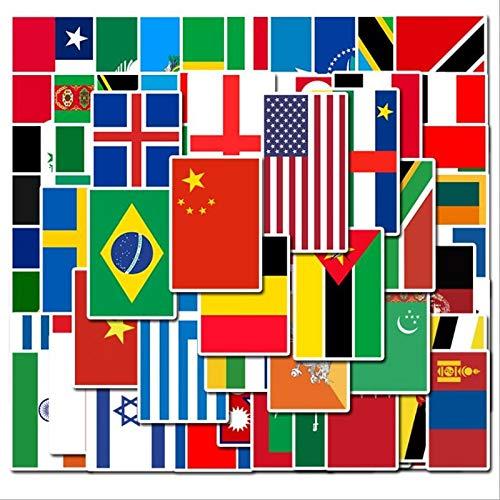 50 100 PCS Länder Nationalflagge Aufkleber Spielzeug für Kinder Fußball Fußball Fans Aufkleber Scrapbooking Reiseetui Laptop Aufkleber